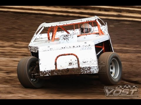 Legendary Hilltop Speedway AMRA modified heat #2 4/28/2017 - My first race at Legendary Hilltop