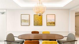 웜컬러 & 웨인스코팅, 모던클래식 60평대 아파…