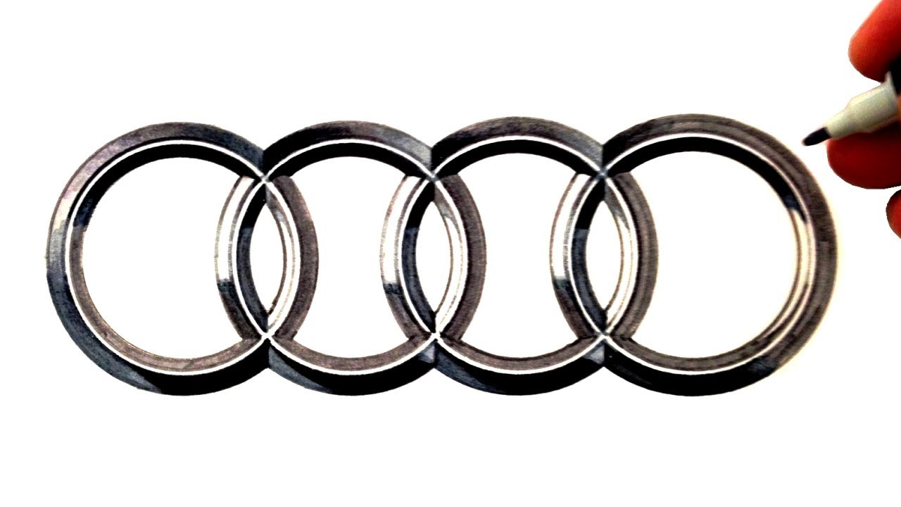 How To Draw The Audi Logo Youtube