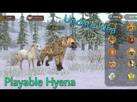 WildCraft Update Idea: Playable Hyena Animation And More