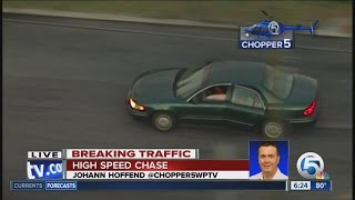 High-speed chase in Palm Beach County