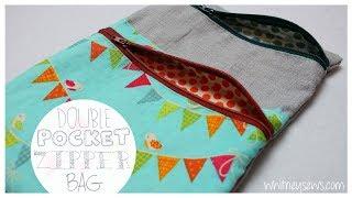 Zapętlaj Double Pocket Lined Zipper Bag {EASY} | Whitney Sews | Whitney Sews