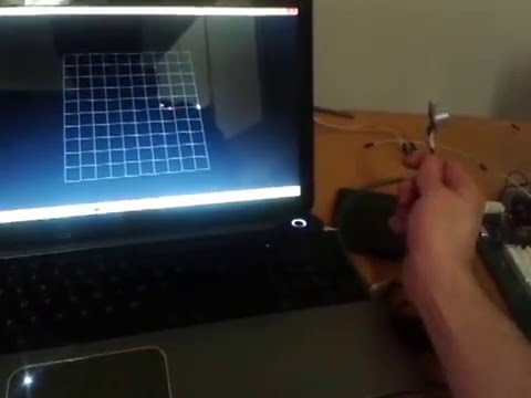 Bouncing a pool ball around a grid with the ultrasonic motion capture device
