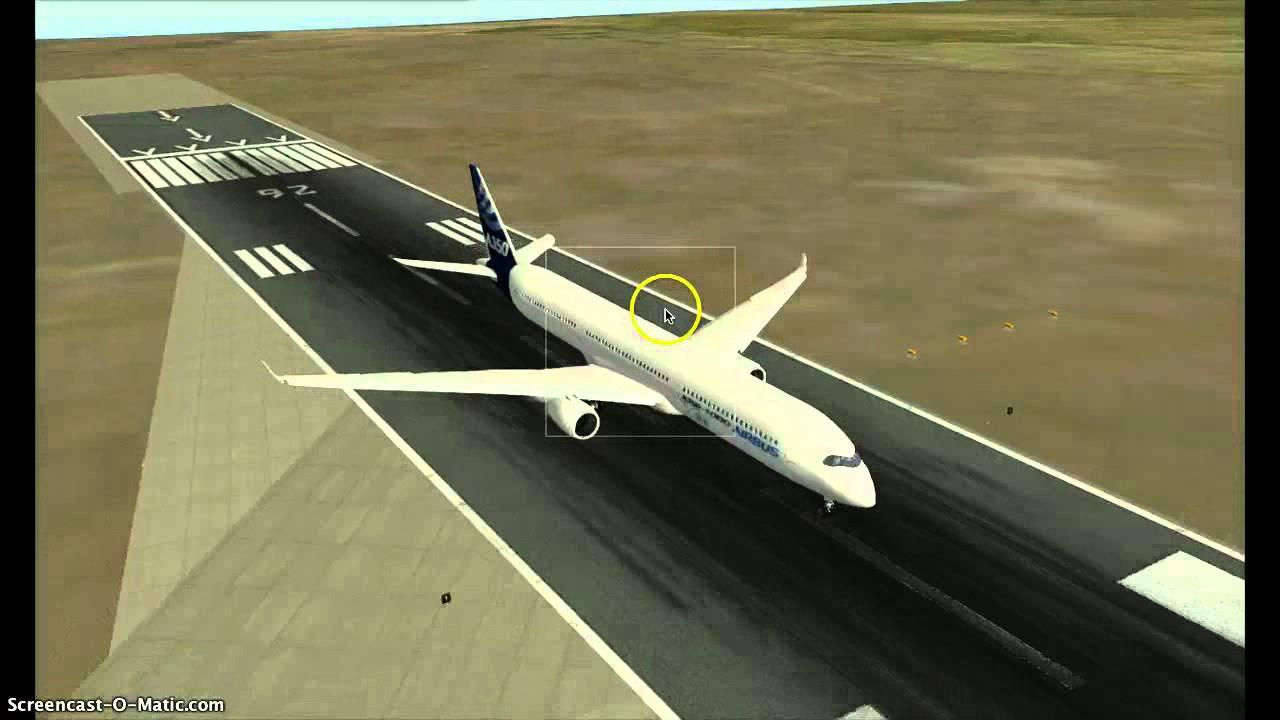 X-Plane 10 A350 1000 TAKE OFF