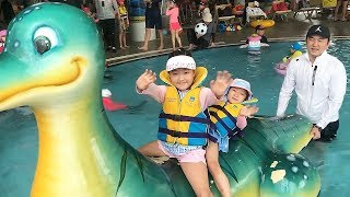 LoveStar have fun playing at the indoor water park
