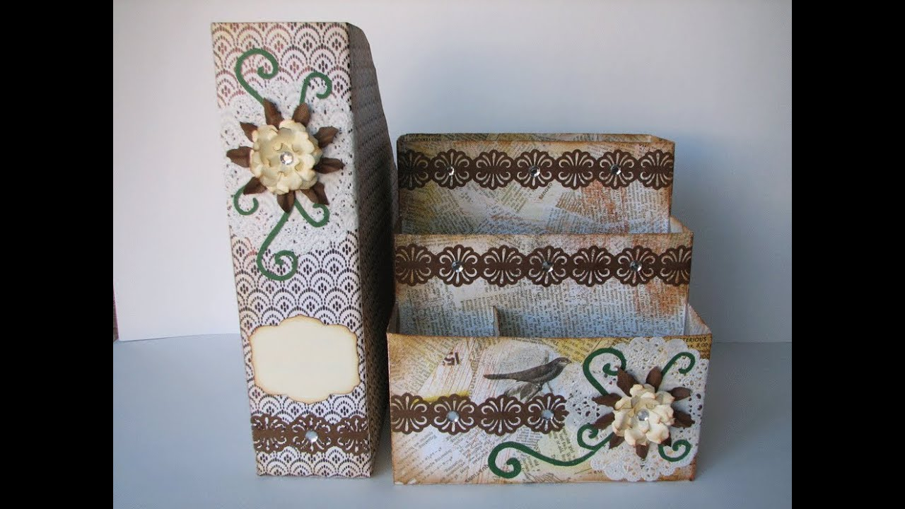 recycling crafts ideas recycle ideas paper holder and desk organizer 2820