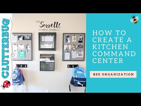 Get Organized with a Kitchen Command Center - Bee Organizing Ideas 🐝