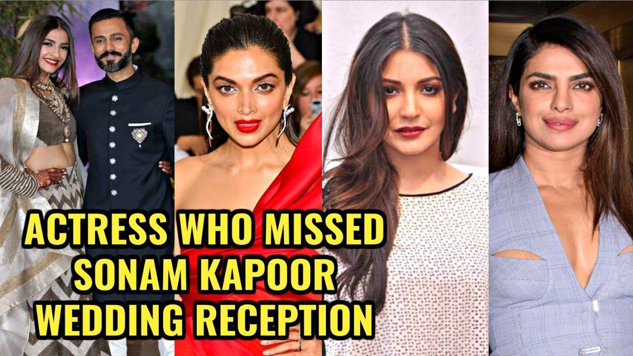 Bollywood Actress Who Missed Sonam Kapoor Wedding Reception