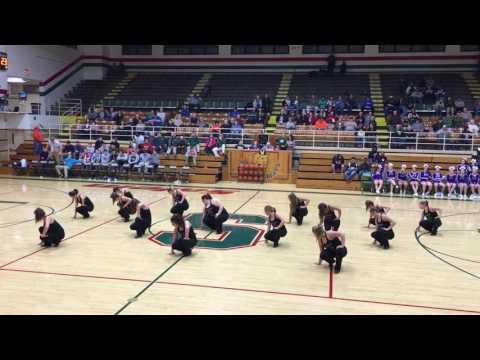 Salem Community High School dance team Salem, Illinois.