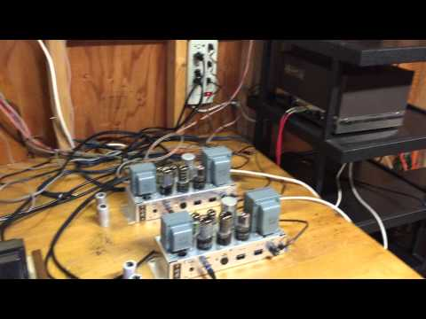 Ampex 6V6 Tube Monoblock Power Amplifiers - Jimmyvp1