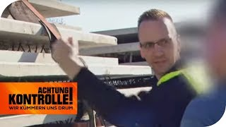 Ladungssicherung falsch! Die Betonplatten könnten fallen! | Achtung Kontrolle | kabel eins