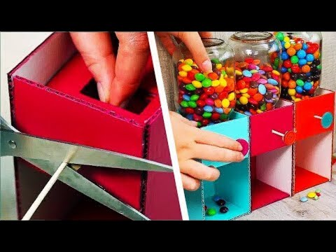 Easy To Make Candy Dispenser   DIY Candy Machine   Craft Factory