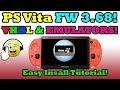 PS Vita 3.68! VHBL & Emulators INSTALLATION! With PSP DEMO Install!