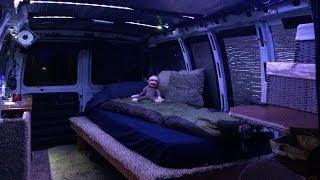 Custom built stealth camper van.