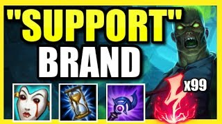 """(WIN GAME AT LEVEL 2!) HOW TO SOLO CARRY AS BRAND """"SUPPORT"""" - League of Legends Season 9"""