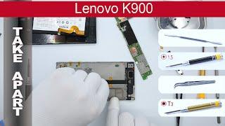 How to disassemble 📱 Lenovo K900, Take Apart, Tutorial