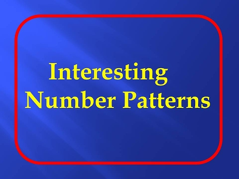 Top 20 Interesting Number Patterns.Maths Puzzles - YouTube