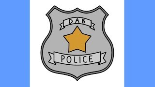 How to draw Dab police badge