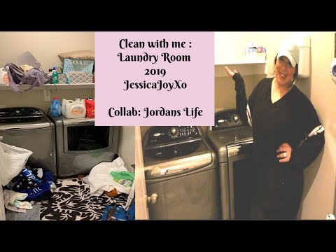 CLEAN WITH ME|| LAUNDRY ROOM 2019 COLLAB WITH JORDANS LIFE