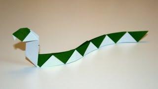 Origami tutorial - Streaked snake