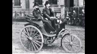 vintage cars. first cars humanity. beginning of an era of car