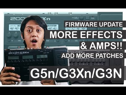 Zoom G3Xn / G5n / G3n Firmware Update, Add More Effects & Patches!! - Tutorial Video