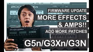 Gambar cover Zoom G3Xn / G5n / G3n Firmware Update, Add More Effects & Patches!! - Tutorial Video
