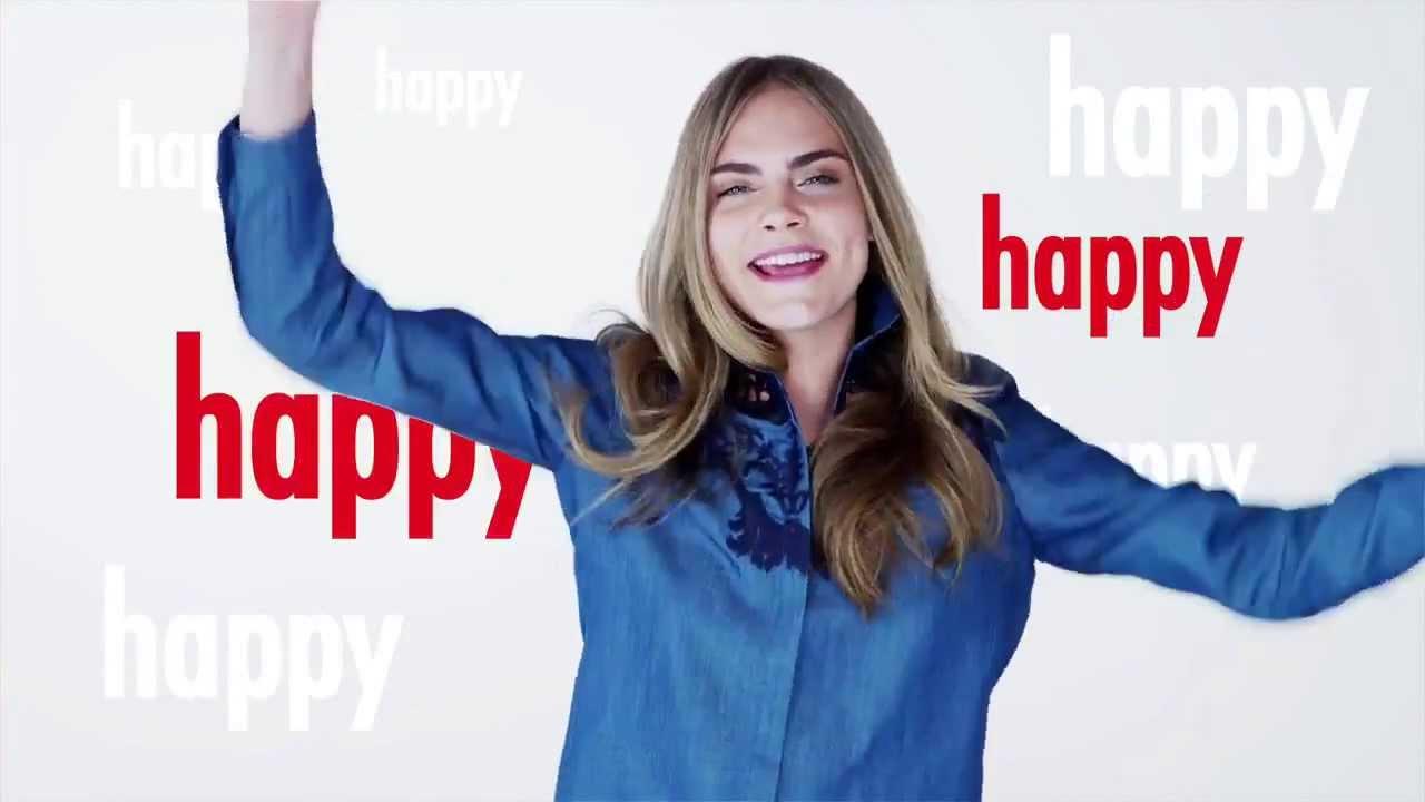 Cara Delevingne Happy