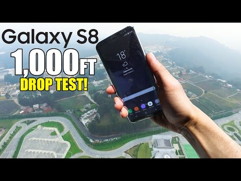 Samsung Galaxy S8 Drop Test from 1000 Feet!! | Durability REVIEW