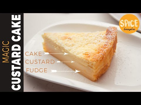 জাদুর কেক( চুলায় তৈরি )   Magic Cake   Magic Custard Cake   Bangla Cake Recipe  Spice Bangla Recipes