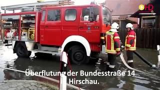 Schwere Unwetter entluden sich über der Oberpfalz
