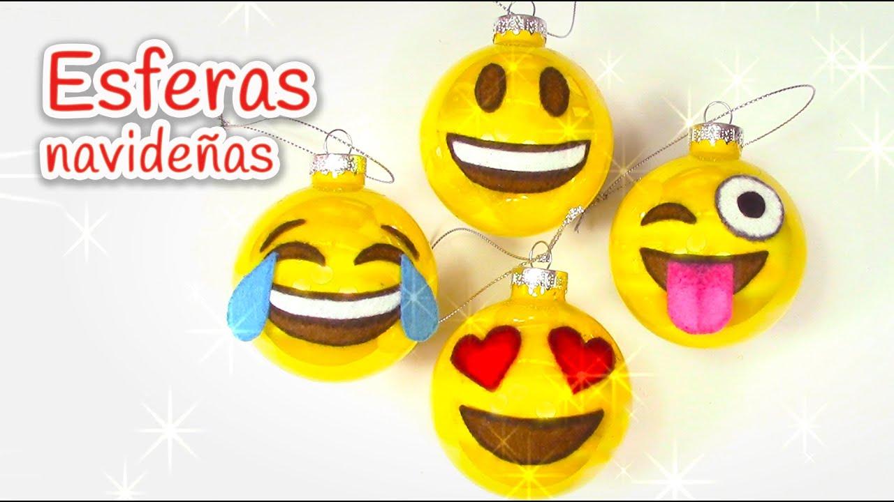 para navidad esferas navideas de emojis innova youtube