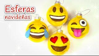 Manualidades para Navidad: ESFERAS navideñas de EMOJIS - Innova Manualidades