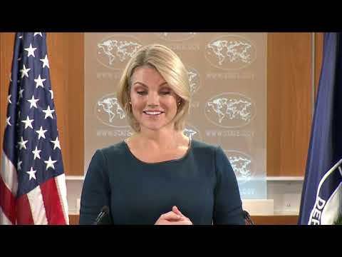 WATCH: Heather Nauert Department Press Briefing on President Donald Trump News - November 7, 2017