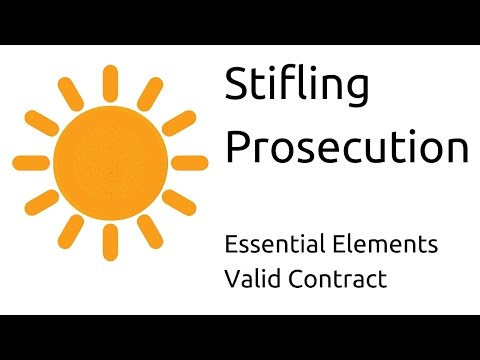 What Is Stifling Prosecution | Other Essential Elements Of A Valid Contract  | CA CPT |
