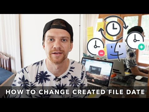 How to change the created date or modify the date on MAC
