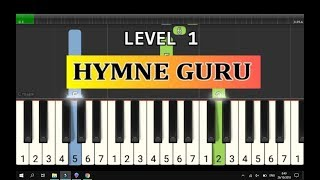tutorial piano hymne guru