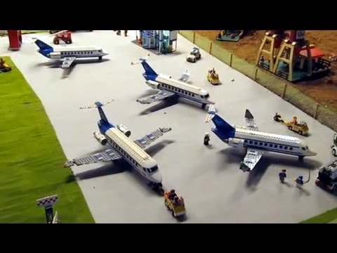 Big LEGO Airport - 7 Aircrafts, Helicopter Police station ...