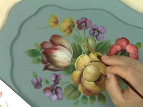 Peinture d corative le style floral fran ais par david for Peinture decorative
