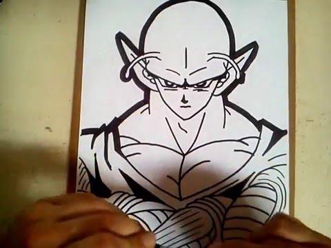 Como dibujar a piccolo de dragon ball z / how to draw ...