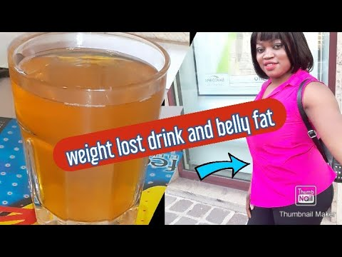How to lose belly fat fast # weight lost drink home made