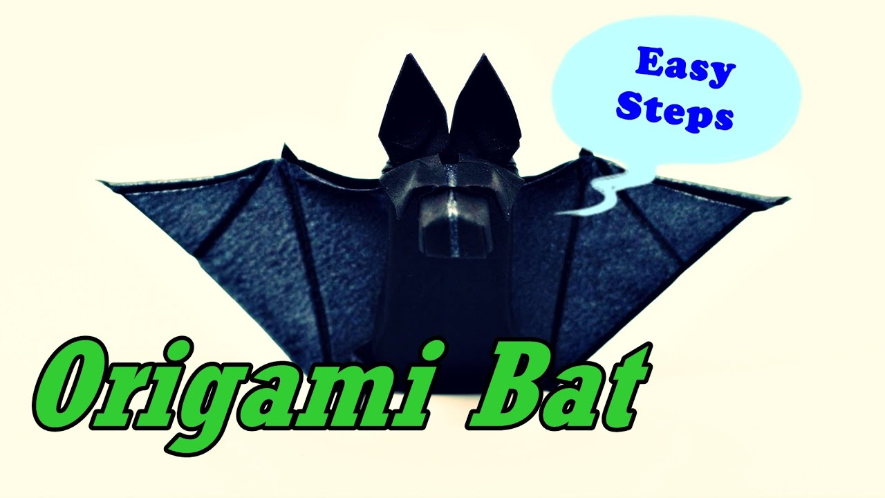 How To Make Paper Bat