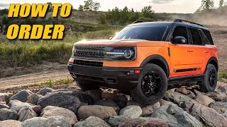 This Is How You Should Order Your Bronco Sport!
