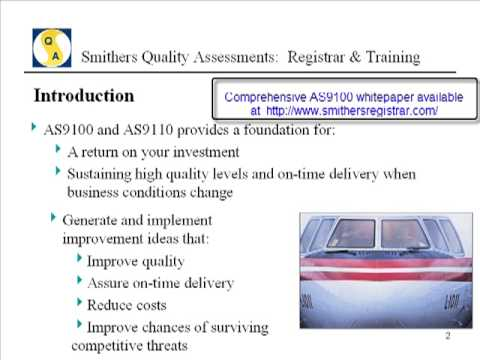 AS9100 Certification - Why pursue it? - YouTube