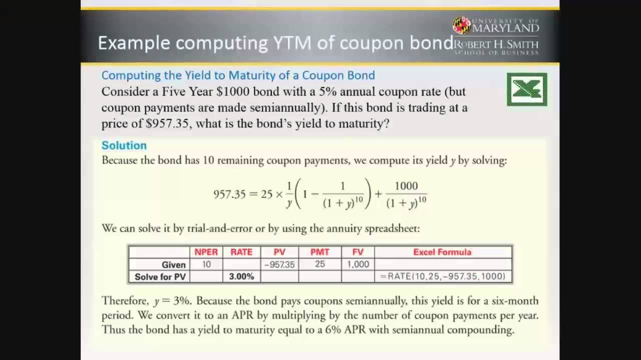 Yield to maturity approximate formula and calculator.