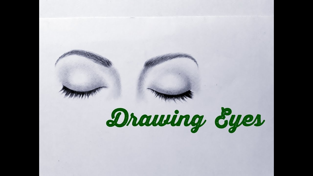 How to draw closed eyes easy drawing an eye both eyes easy step by step tutorial for beginners