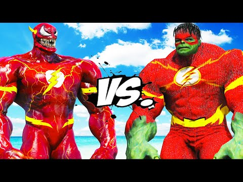 FLASH - VENOM VS FLASH - HULK