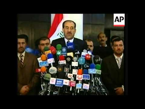 Maliki gives news conference as Parliament approves new government