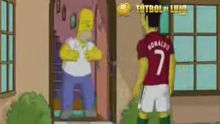 Cristiano Ronaldo CR9 hace caño a Homer Simpson en anuncio NIKE