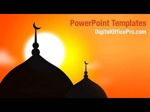 muslim mosque powerpoint template backgrounds